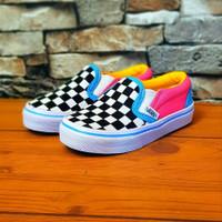 Sepatu Anak Vans Slip On Rainbow Grade Original