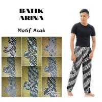 Celana Panjang Batik Boim Dewasa - Putih, L