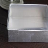 Loyang Bolu Kotak 22 x 22 x 7 cm Kuat Tebal 8mm Cake Pan Made in Indo