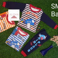 Stelan Baju Bayi Laki-laki Bahan Katun motif Pesawat 0-8 bulan
