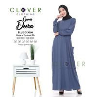 Baju gamis wanita terbaru busui Deera ori clover - gamis bahan kaos
