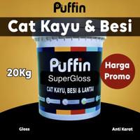 Cat minyak kayu besi PUFFIN ALKYD super gloss 1kg