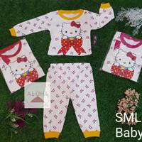 baju bayi perempuan Setelan Panjang Bayi Hello Kitty 0-8 bulan