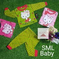 Baju bayi Perempuan Stelan Panjang Bahan Katun Hello Kitty 0-8 bulan