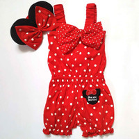 Baju Anak Bayi Perempuan - Jumpsuit Minimouse Red
