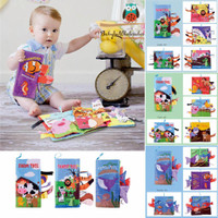 Soft book 3d tail jungle / Mainan buku kain bayi 3d animal