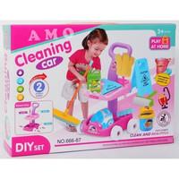 Mainan Anak Cleaning Set Rumah Tangga - Car Cleaning Trolley