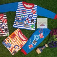 Baju Bayi Laki-laki bahan katun motif mobil 0-8 bulan