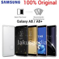 Samsung Galaxy A8 Plus A8+ Original Neon Flip Case Casing Kesing Buku