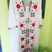 Dress panjang/ Gamis / tunik bordir Bangkok