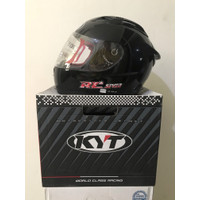 Helm KYT RC Seven Hitam Solid Clear Black RC7 RC-7