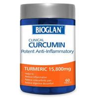 bioglan clinkcal curcumin turmeric 15.800mg 60 tablet