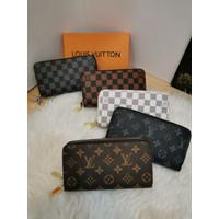 Dompet LV Double Zipper Premium quality dompet wanita import