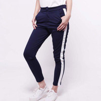 SIDE STRIPE PANTS - celana Wanita Jegging / sport