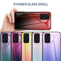 Gradient Glass Case Vivo V19 VivoV19 Back Cover Casing HP