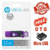 USB FLASHDISK HP ORIGINAL V245L - 32GB PURPLE