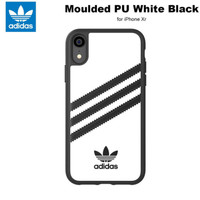 Adidas Originals Molded PU Soft Case for iPhone Xr - White Black