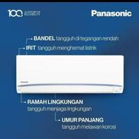 Ac Panasonic 1/2pk LN05UKJ si biru (pasang+pipa Hoda 5 meter+braket)
