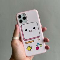 Soft case gameboy For Iphone - Merah Muda