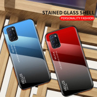Gradient Glass Case OPPO A52 A72 A92 OPPOA52 OPPOA92 Back Cover Casing