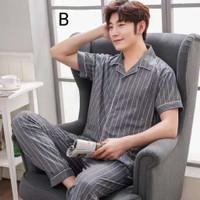 Baju Tidur Pria 5677 Piyama Cowo Men Pajamas Murah Katun Sleepwear Set