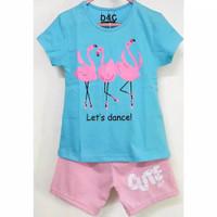 Kaos anak setelan karakter lets dance