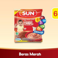 SUN Bubur Sereal Susu Beras Merah Sashet 20 gr isi 8