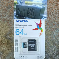 adata micro sd 64gb premier class 10 UHS-I with adaptor memory card