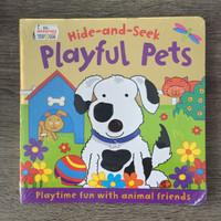 Boardbook Hide & Seek Playful Pets Buku Cerita Anak Hardbook