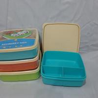 Toples Makanan Segi / Kotak Makan Plastik / Lunch Box / Ompreng Plasti