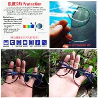 kacamata lensa anti radiasi blue ray komputer/laptop/hp/gamers