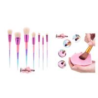 premium make up brush set 7pcs package brush egg/ pembersih brush