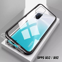 OPPO A52 A92 MAGNETIC SINGLE GLASS CASE OPPO A52 A92 2020 CASING A52