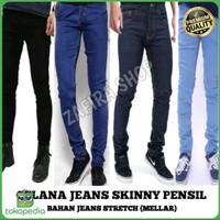 celana jeans pria panjang model skinny pensil
