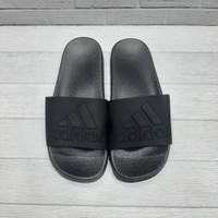 Sandal Slide On Adidas Logo All Black Premium