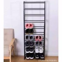 Amazing shoes rack 10 tingkat/Rak sepatu ajaib Full black