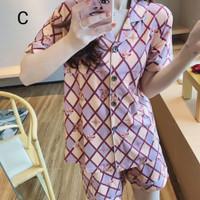 Piyama Wanita Baju Tidur Katun Motif Lucy Bajutidur Sleepwear Set Cewe