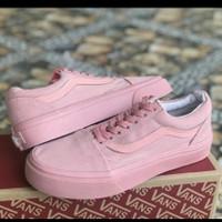 sepatu wanita vans pink soft