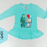 kaos rample anak perempuan usia 4-6 tahun