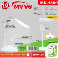 Lampu Meja Belajar /Fleksibel Mini Portable Rechargeable Myvo MD 1800