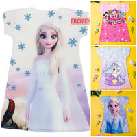 Baju anak Unicorn Frozen LOL hello kitty dress kaos unicorn LOL frozen