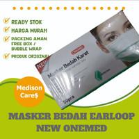 masker bedah karet onemed earloop 3 ply original | per box isi 50 |