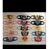 Masker Scuba Karakter 3D Full Print