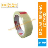 Isi 6 roll - Selotip Solasi Lakban Bening Daimaru 1 inch/24 mm