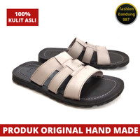 Sandal pria kulit asli termurah sandal kulit model selop JR kulit asli