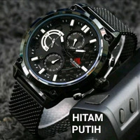 jam tangan pria ORIGINAL D-ZINER 9001 RANTAI PASIR CRONO AKTIF RANTAI