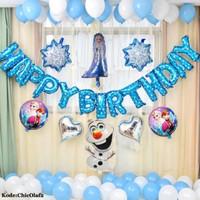 Set paket balon frozen Olaf elsa birthday ultah ulang tahun dekorasi