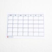 Monthly planner notebook spiral refill isi binder A5 agenda bulanan