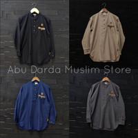 kemeja koko lengan panjang / kemko / Al Amwa / bahan cotton oxford