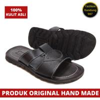 Sandal pria kulit asli termurah sandal kulit model selop Jk kulit asli